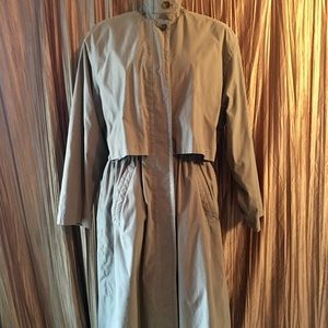 Eddie Bauer Down Trench Coat Size Large